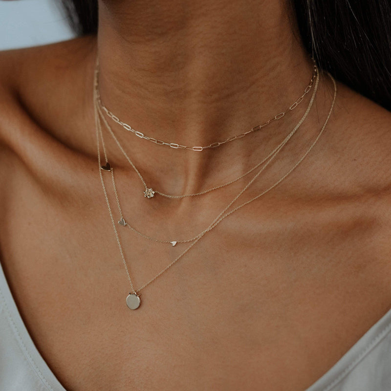 Imprint Forest Necklace - 14k Yellow Gold, Engravable