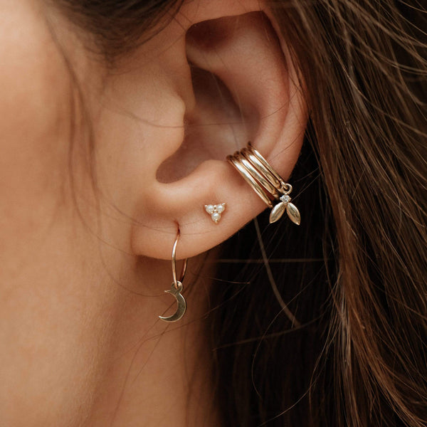 Seedling Ear Cuff - 14k Yellow Gold