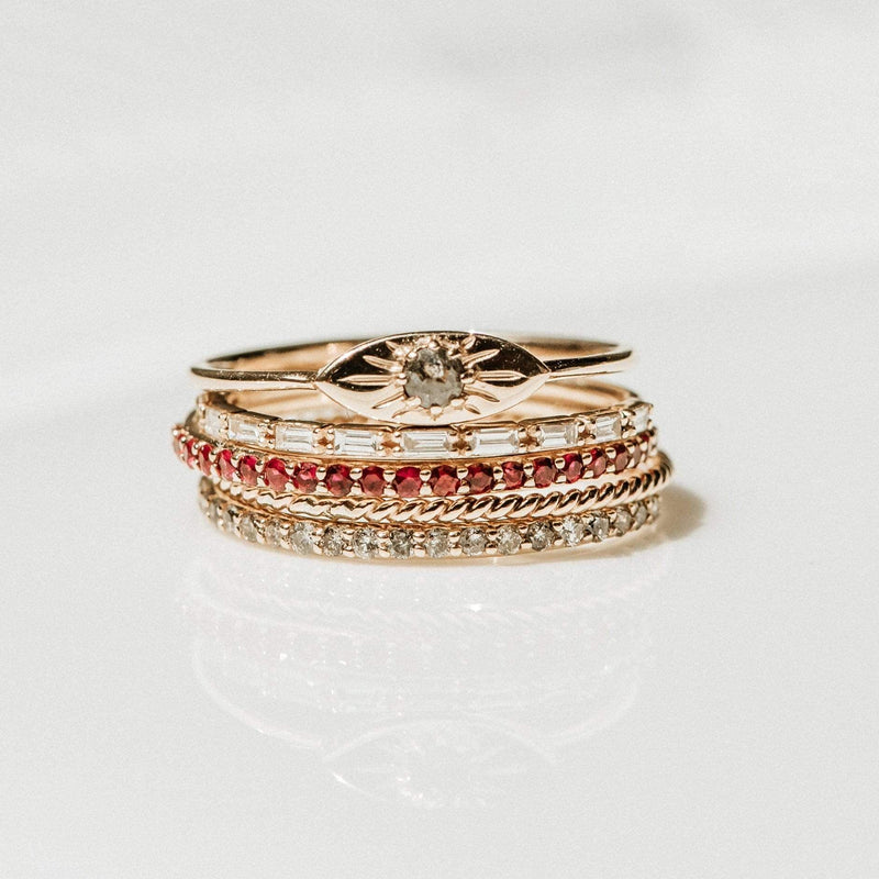 Ruby Vibrant Band - 14k Yellow Gold, Precious Gems