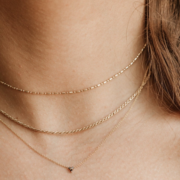 Dew Drop Choker Necklace - 14k Yellow Gold