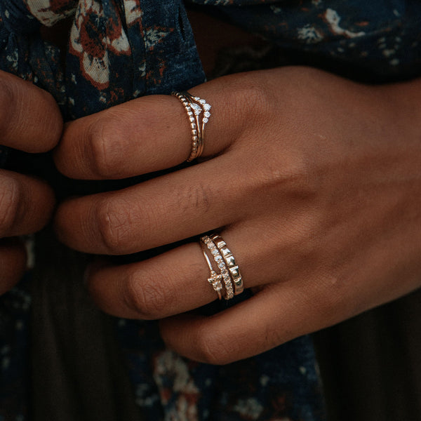 Peaks and Valleys Ring - 10k Rose Gold