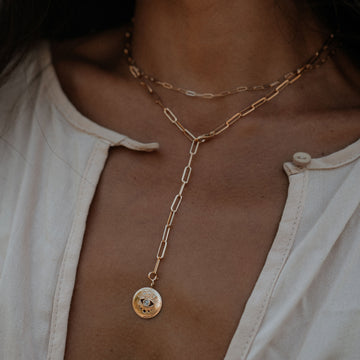 eternal gaze + boldly inseparable necklace duo on body}