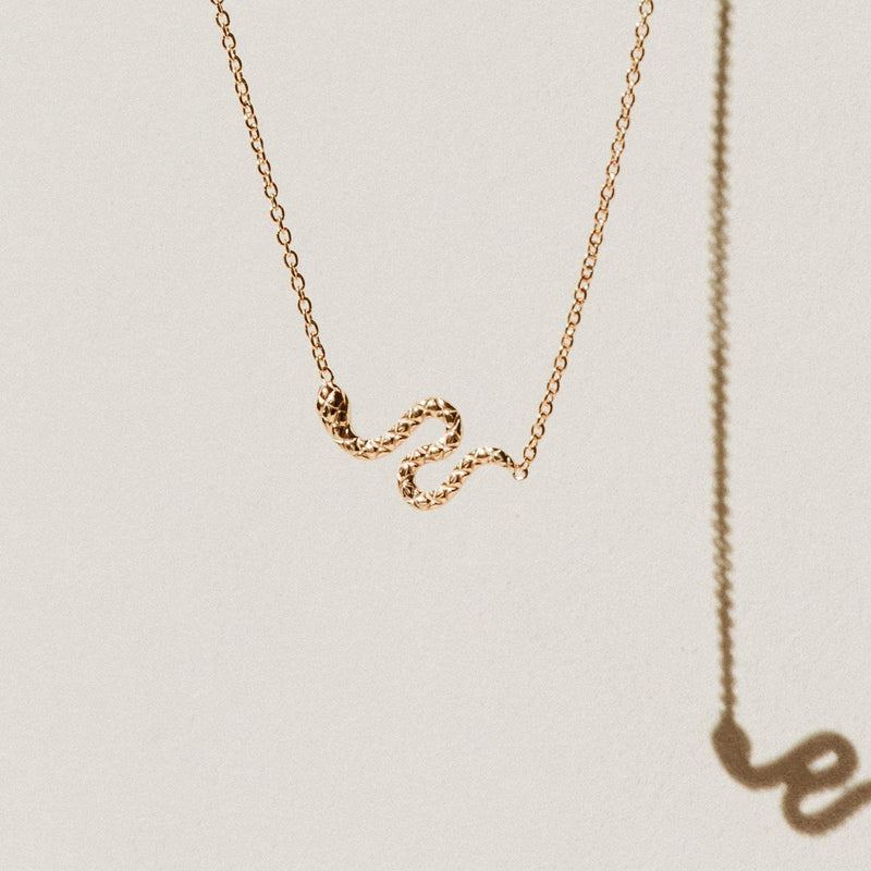 Revival Snake Necklace - 14k Yellow Gold