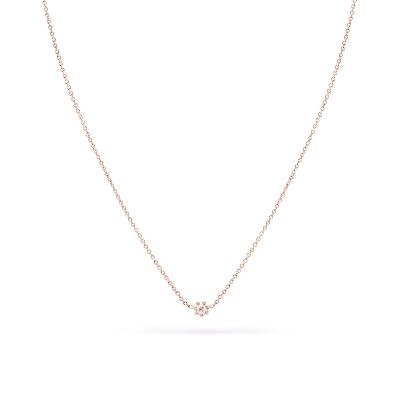 Dainty Diamond Nova Necklace - 14k Rose Gold