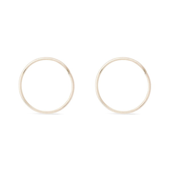 Everyday Hoops - 10k Rose Gold, 10k White Gold