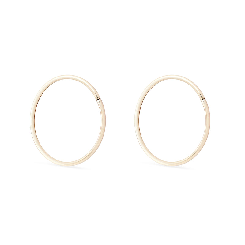 Everyday Hoops - 10k Yellow Gold