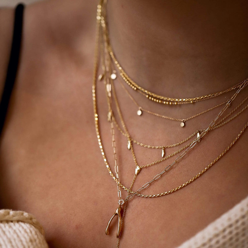 Honeysuckle Necklace - 14k Rose Gold