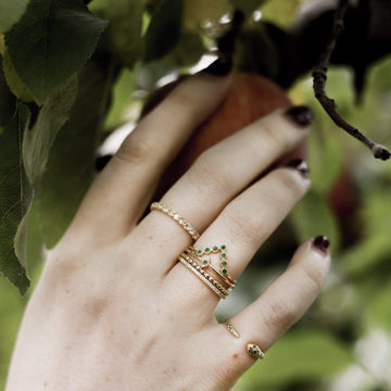 Treetop Forest Ring on body}