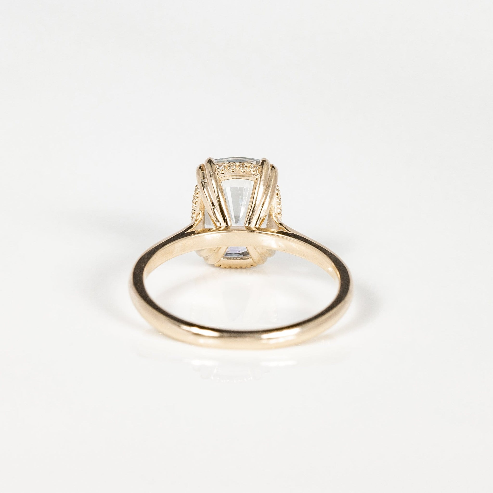 One of A Kind Sanibel Ring - 14k Yellow Gold, White Sapphire