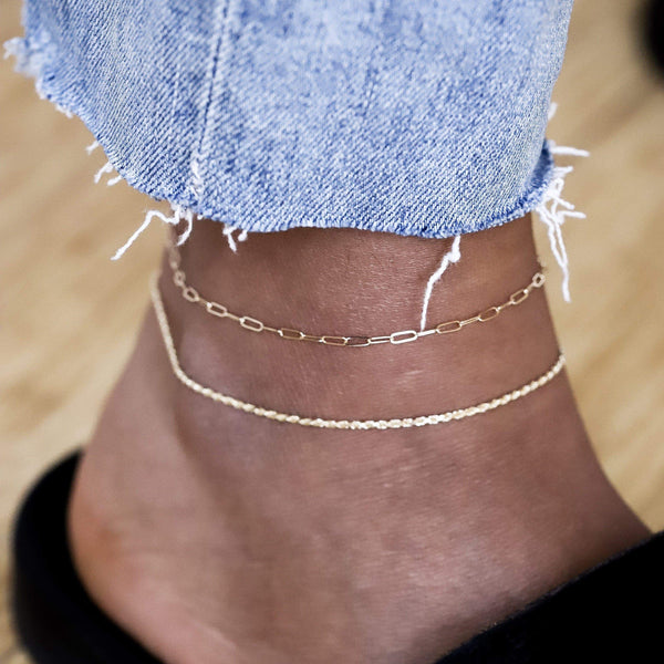 14k infinite inseparable anklet - 14k Yellow Gold