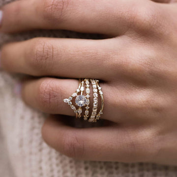 rose gold alate ring on body}