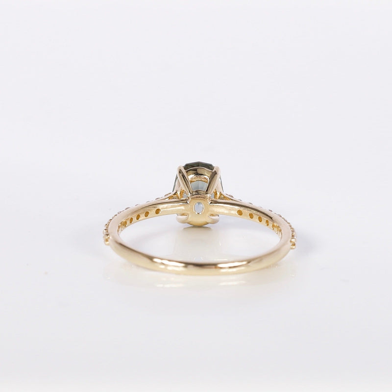 One of a Kind Adventure Aurora Ring - 14 Yellow Gold, Green Sapphire
