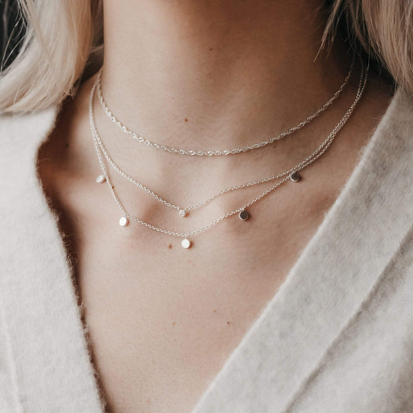 Pirouette Choker Necklace - Sterling Silver