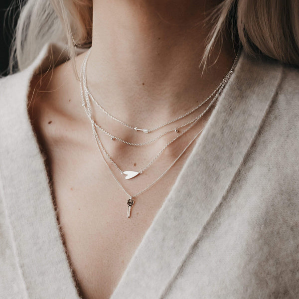 tiny arrow necklace