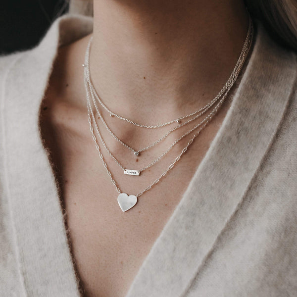 very tiny solitaire necklace