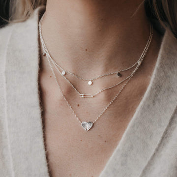 heart with rays necklace