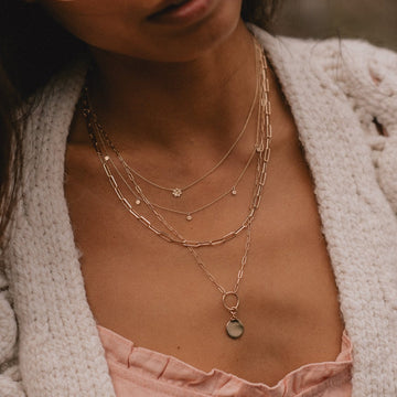 imprint charm + inseparable essence necklace duo on body}