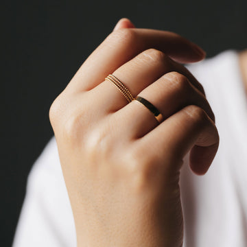 twisted stacking ring on body}