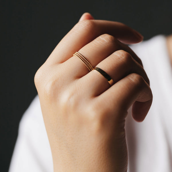 Twisted Stacking Ring - 14k Rose Gold