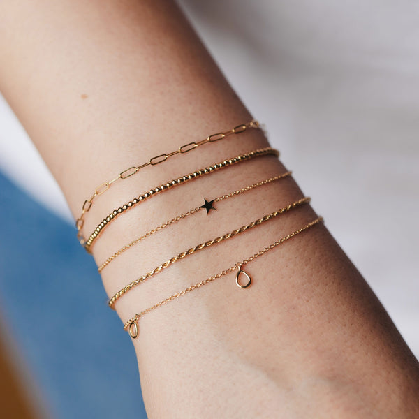 Everyday Little Stella Star Bracelet - 14k Yellow Gold