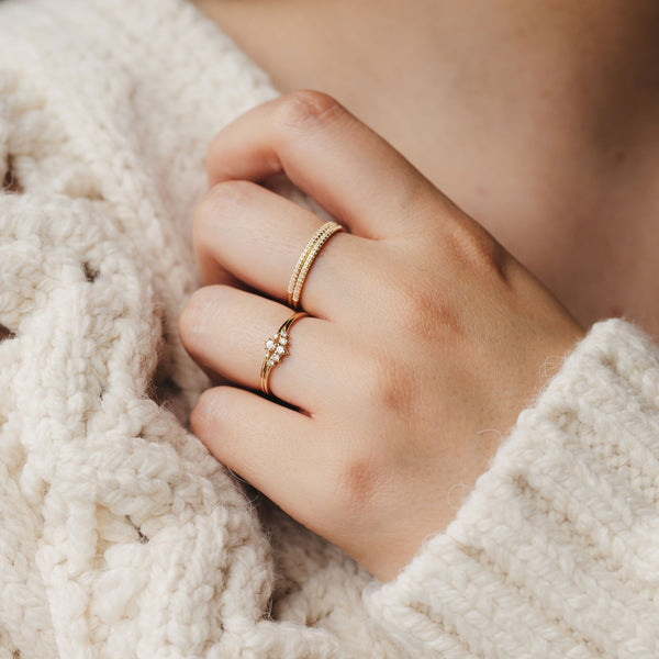 Rose Gold Endalaus I Ring - 14k Rose Gold, White Diamond