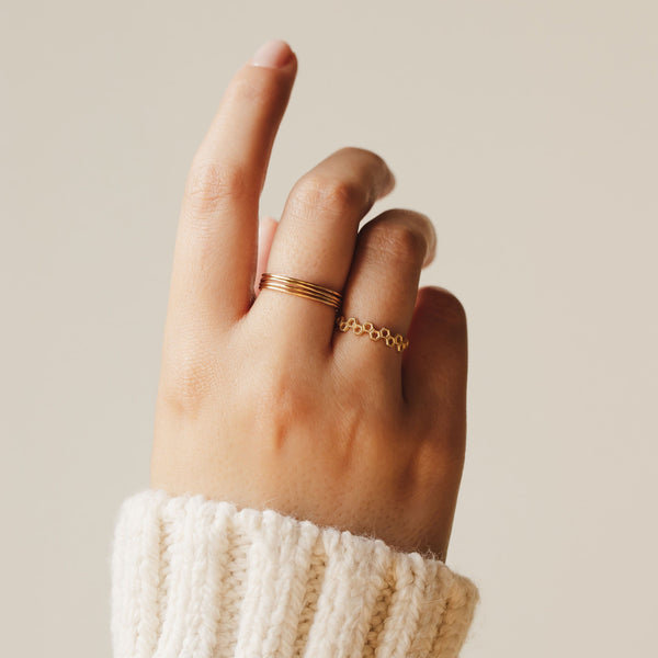 Plain Jane Stacking Ring - 14k Rose Gold