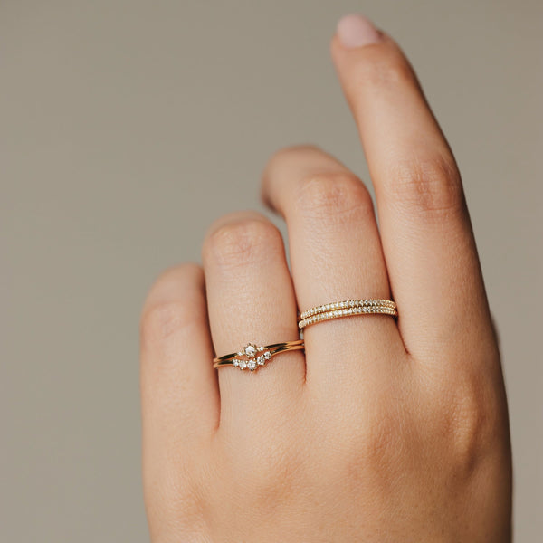 Nova Ring - 14k Yellow Gold, White Diamond