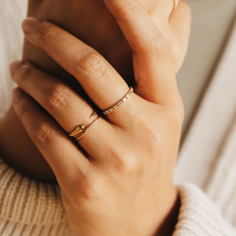 Revival Ruby Snake Ring - 14k Rose Gold