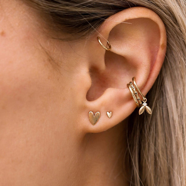 Everyday Larger Lovely Heart Earring - 14k Rose Gold