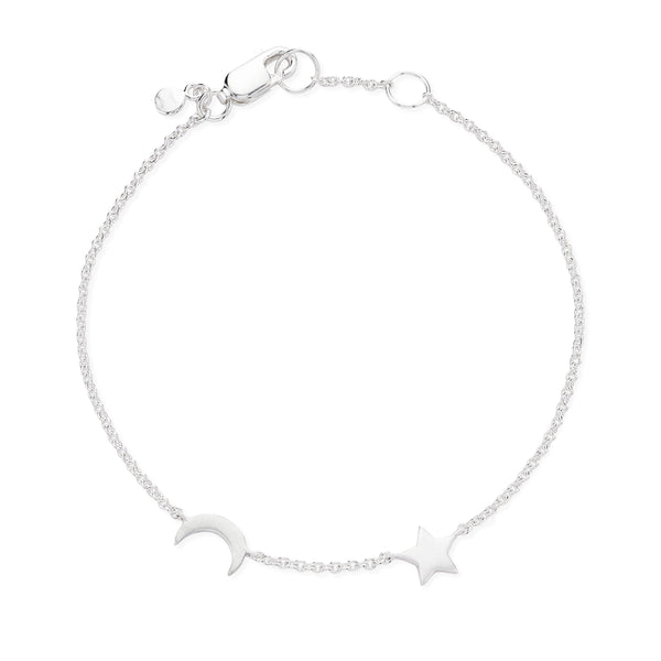 moon and star bracelet - Sterling Silver