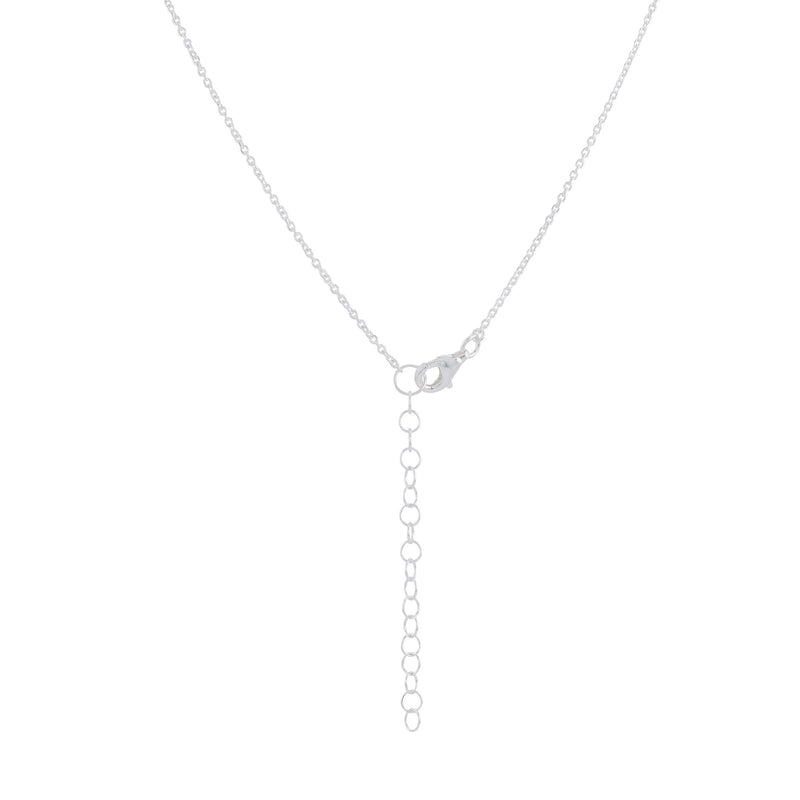 Heart with Rays Necklace - Sterling Silver
