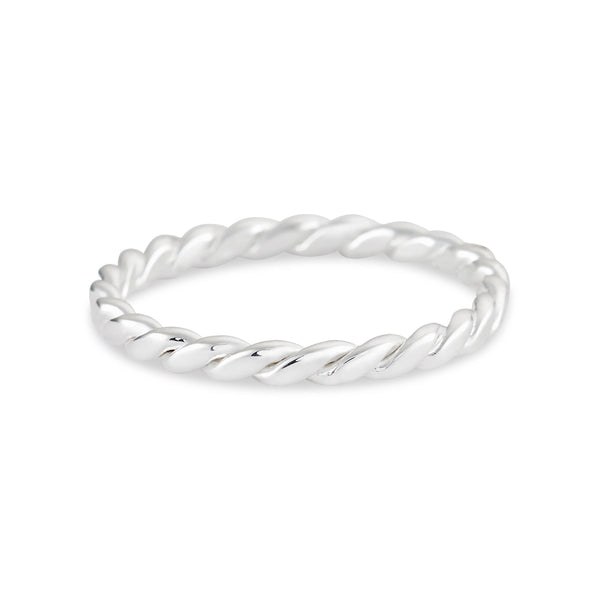 Large Twist Ring - Sterling Silver