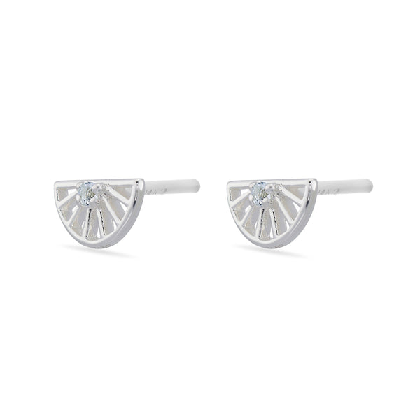 Sunrise White Topaz Earrings - Sterling Silver