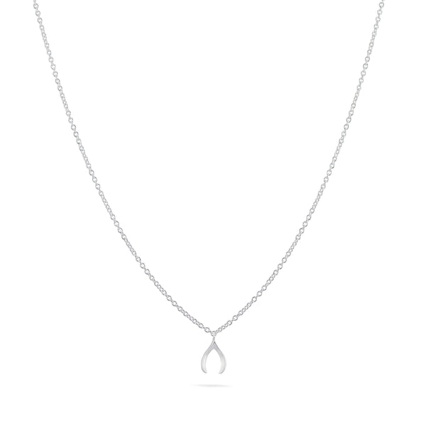 Tiny Wishbone Necklace - Sterling Silver