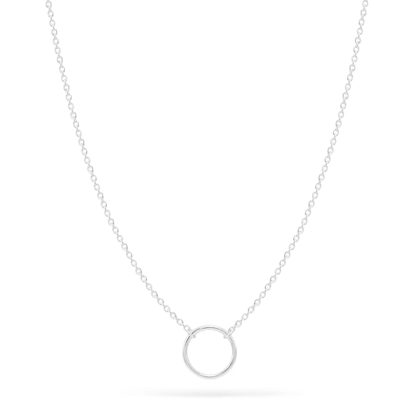 Small Circle Necklace - Sterling Silver