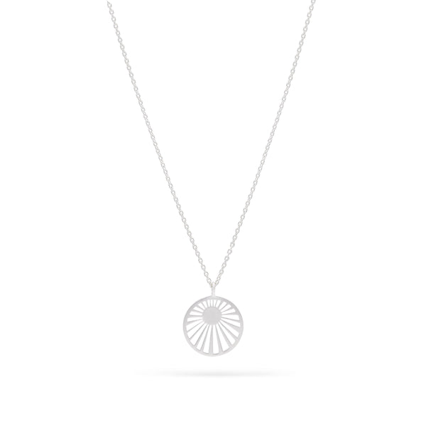 early morning Sunray pendant Necklace - Sterling Silver