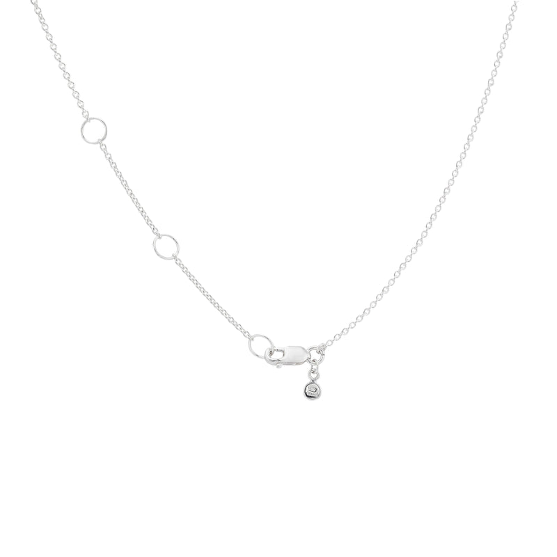 Tiny Loved Plate Necklace - Sterling Silver