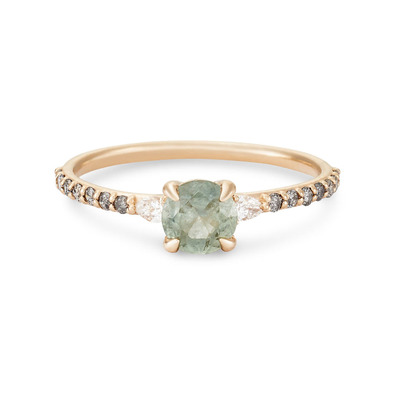 Starlight One of a Kind - 14k Yellow Gold, Mint Sapphire Ring