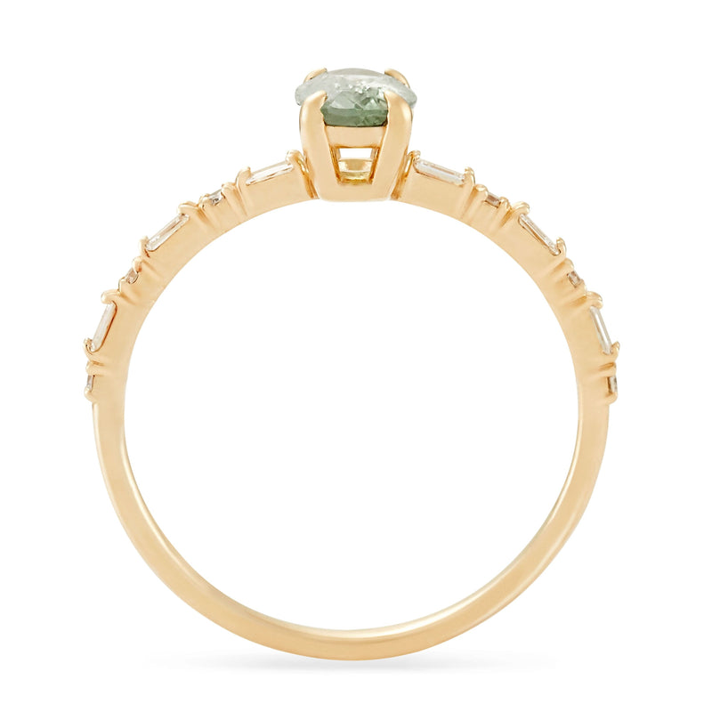 Vela One Of A Kind - 14k Yellow Gold, Mint Green Sapphire Ring