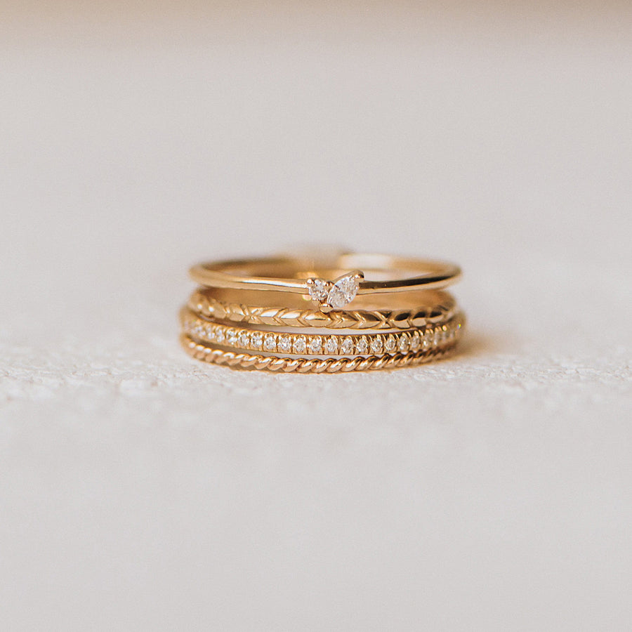 twisted 14k yellow gold ring