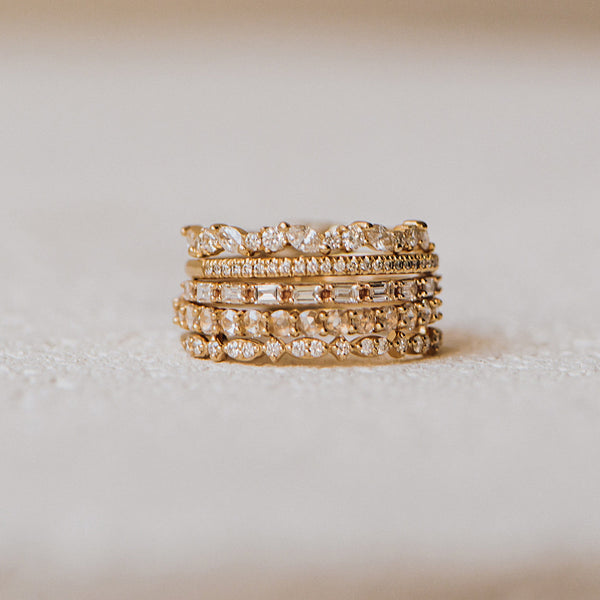 Reverie Band - 14k Rose Gold, White Diamond