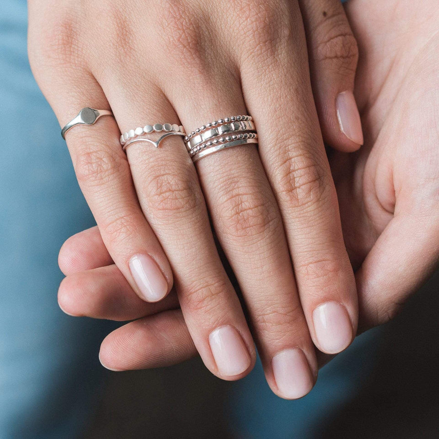 Row of Dots Ring - Sterling Silver