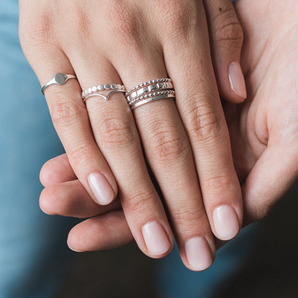 Skinny Chevron Ring - Sterling Silver