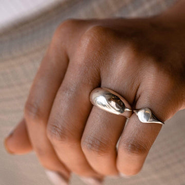 Solid Dome Ring on body}