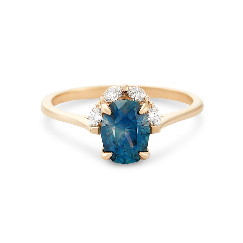 Honour Together One of a Kind - 14k Yellow Gold, Royal Blue Artist Cut Sapphire Ring