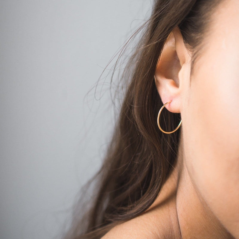 Hollow Hoops - 10k Gold