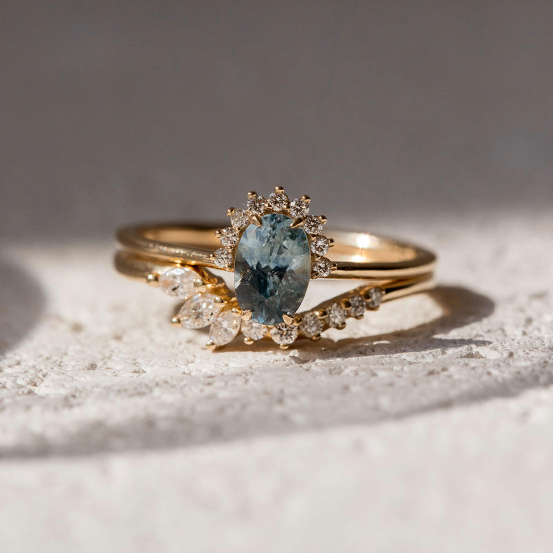 Neptune One Of A Kind - 14k Yellow Gold, Sky Blue Sapphire Ring