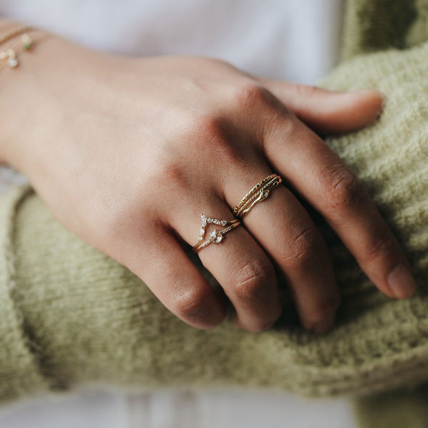 Moonbow Ring - 14k Yellow Gold