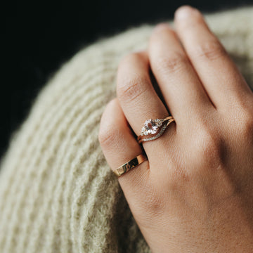 petite rose one of a kind ring on body}