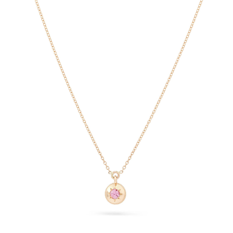 Tie Dye Insight Pendant Necklace - 14K Yellow Gold, Pink Sapphire